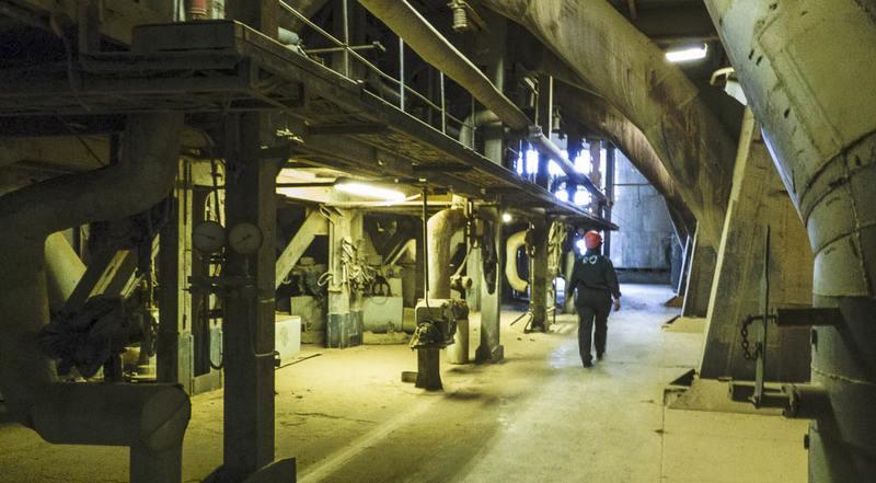 В сланцевом бункере на Балтийской электростанции найден труп рабочего